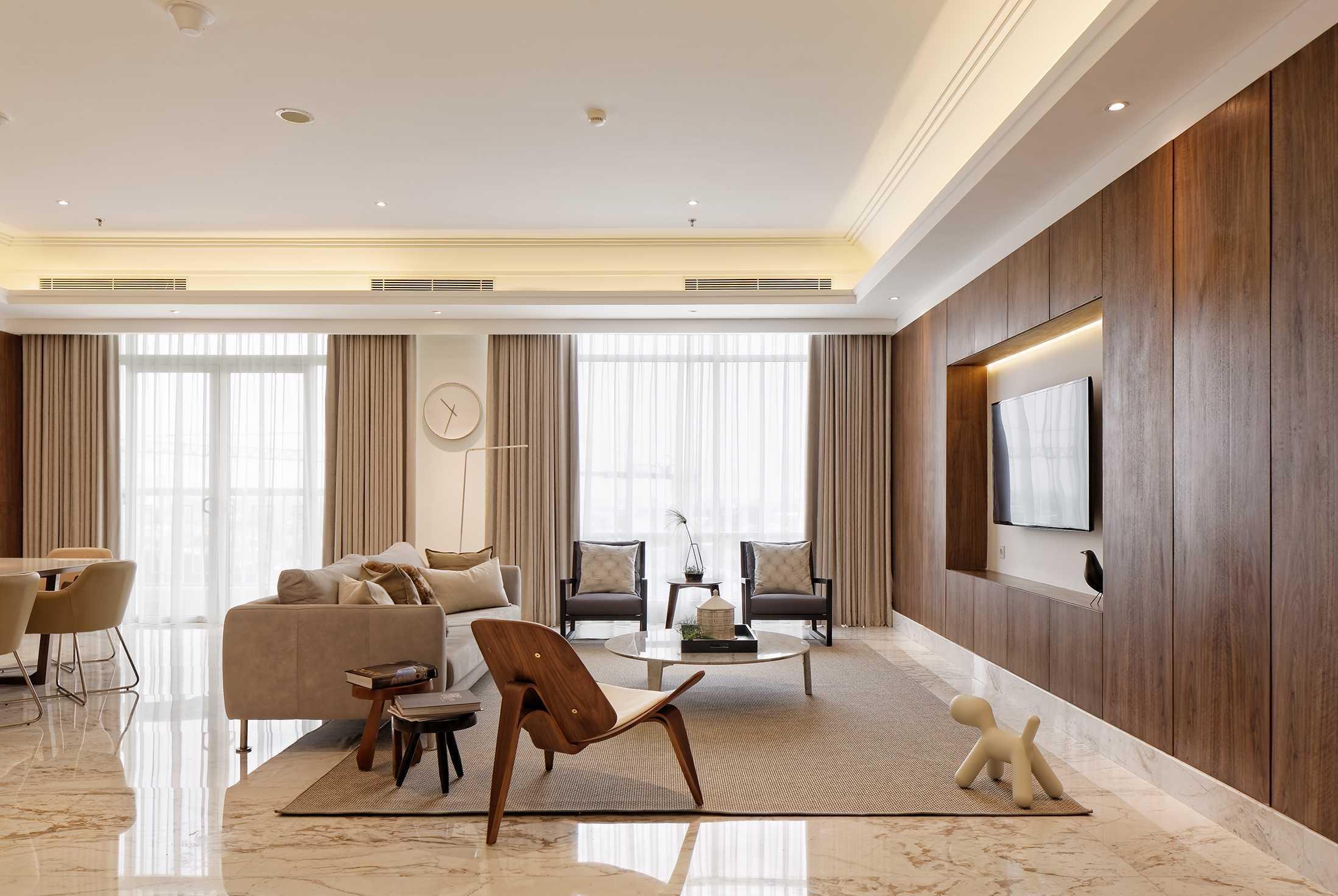 Sontani Partners 11A Residence South Jakarta, Indonesia South Jakarta, Indonesia Living Room Contemporary  21394