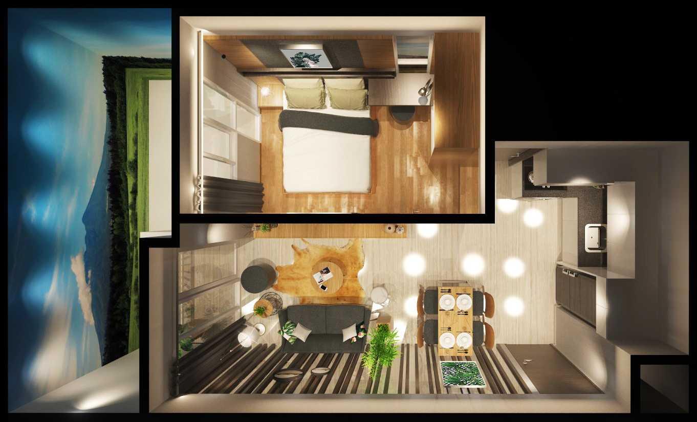 Photo Denah Perspektif Show Unit Verdura Apartment 4 Desain