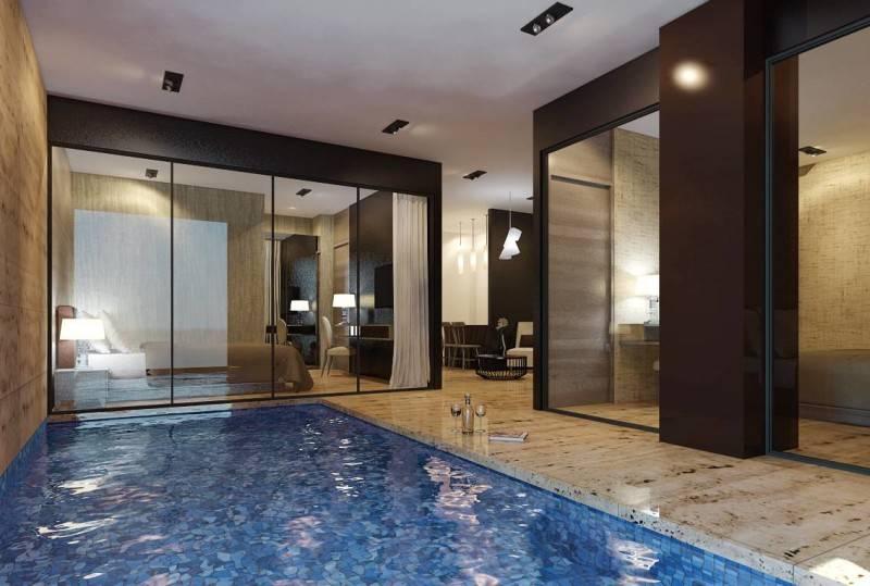 Foto inspirasi ide desain apartemen craftsman Pool-apartment oleh Small Space Interior di Arsitag