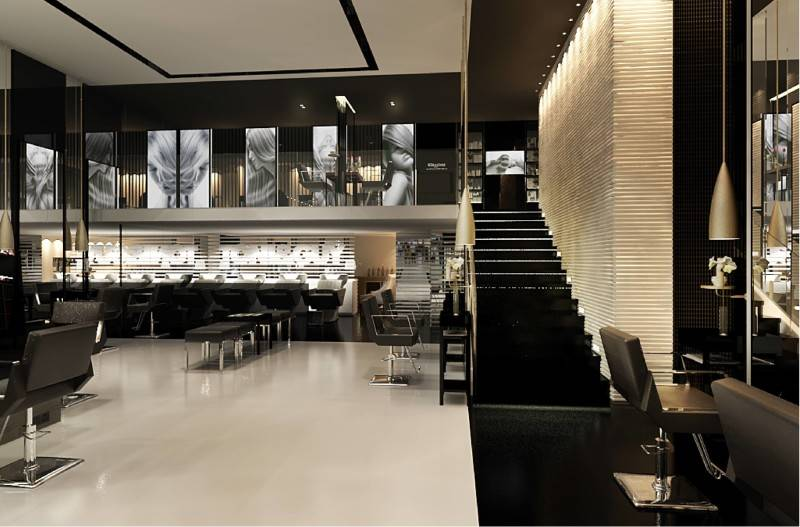 Foto inspirasi ide desain tangga modern Styling area with stair view oleh Tito Lukito di Arsitag