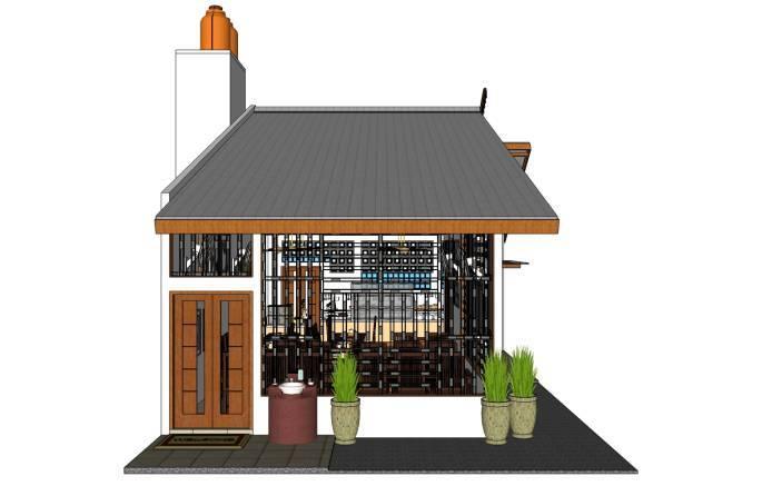 Foto inspirasi ide desain restoran asian Front-view oleh PT. FECTIC MAHA KARYA di Arsitag