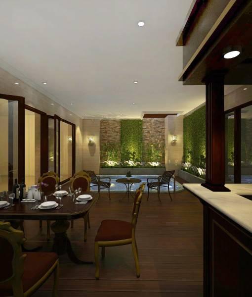 Foto inspirasi ide desain ruang makan klasik Dining room oleh MIV Architects (Muhammad Ikhsan Hamiru & Partners) di Arsitag