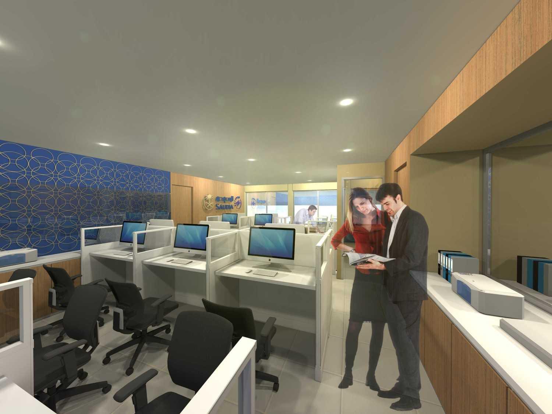 Foto inspirasi ide desain ruang kerja kontemporer Station-management-alternative-1 oleh Monokroma Architect di Arsitag