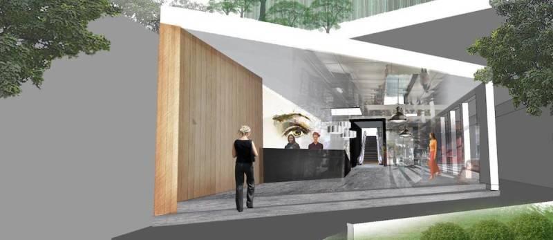 Foto inspirasi ide desain lobby tropis Front area oleh Monokroma Architect di Arsitag