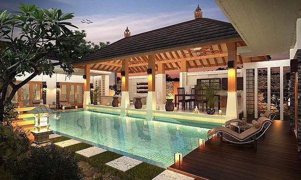 Foto inspirasi ide desain kolam tradisional Swimming-pool1 oleh ED Architect di Arsitag