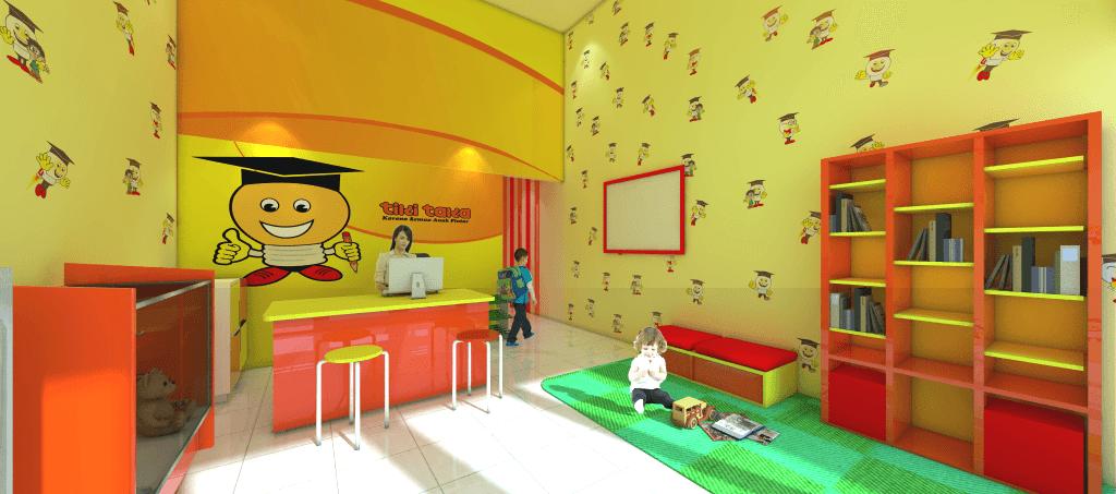 Foto inspirasi ide desain ruang belajar kontemporer Receptionist oleh sujud gunawan di Arsitag