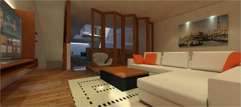 Foto inspirasi ide desain ruang keluarga tropis Kemang-town-house-4 oleh sujud gunawan studio di Arsitag