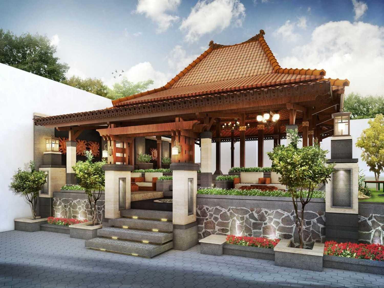 Foto inspirasi ide desain rumah asian Front-view-1 oleh Hendra Budi Architect di Arsitag