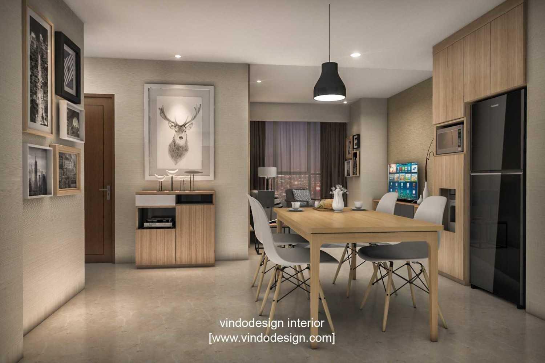 Foto inspirasi ide desain ruang makan skandinavia Diningroomvindodesignsetiabudiskygarden oleh Vindo Design di Arsitag