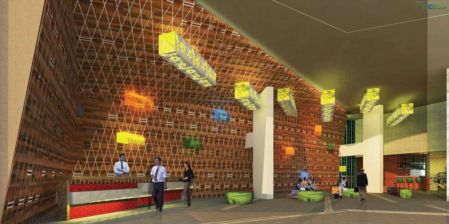 Foto inspirasi ide desain lobby modern 4 oleh Atelier Cosmas Gozali di Arsitag