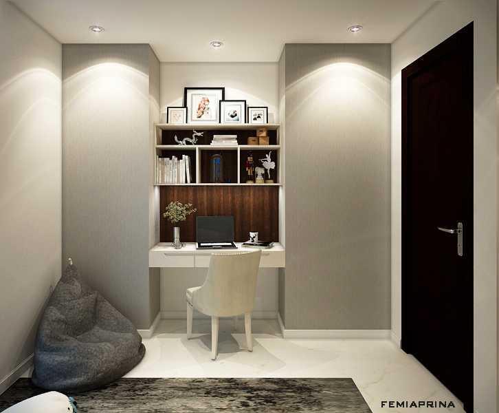 Foto inspirasi ide desain ruang belajar kontemporer Study-room oleh Femi Aprina di Arsitag