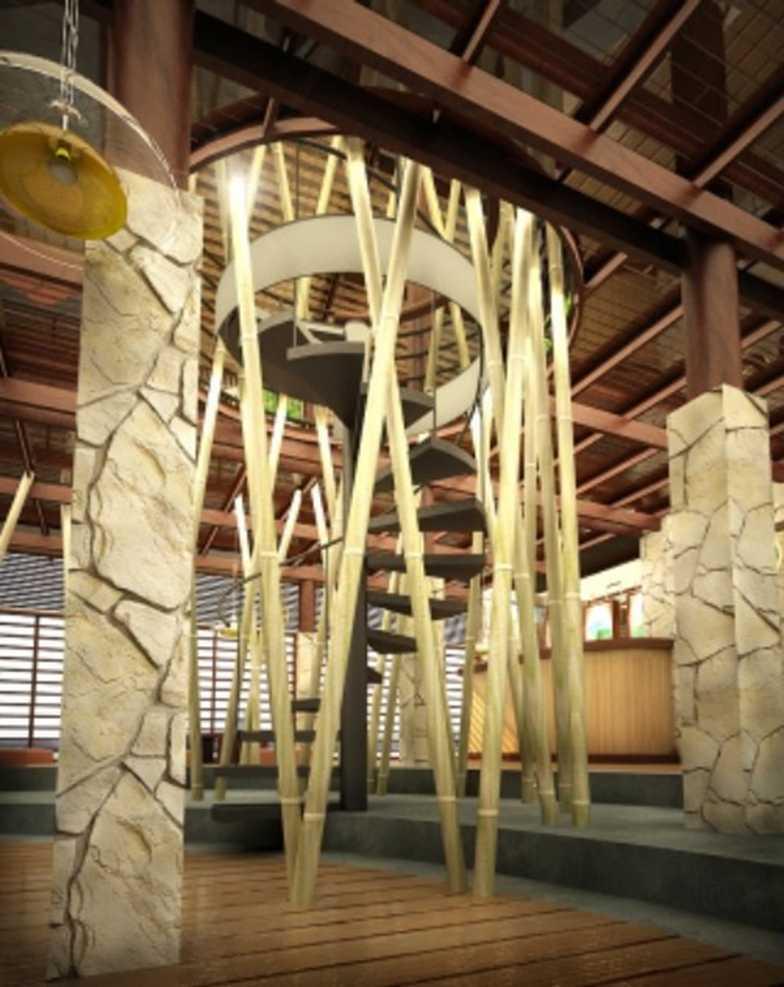 Foto inspirasi ide desain tangga tradisional Stairs oleh ABOV di Arsitag