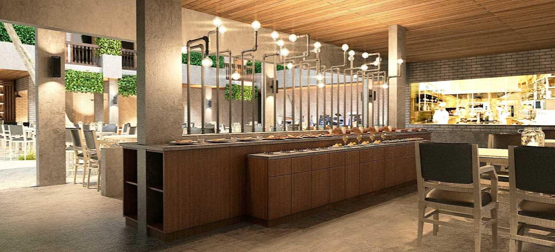 Foto inspirasi ide desain restoran industrial Industrial kitchen for a resort restaurant oleh Rinto Katili di Arsitag