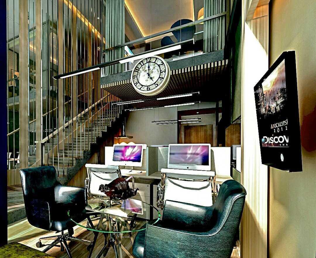Foto inspirasi ide desain ruang kerja kontemporer Workspace for soho oleh Rinto Katili di Arsitag