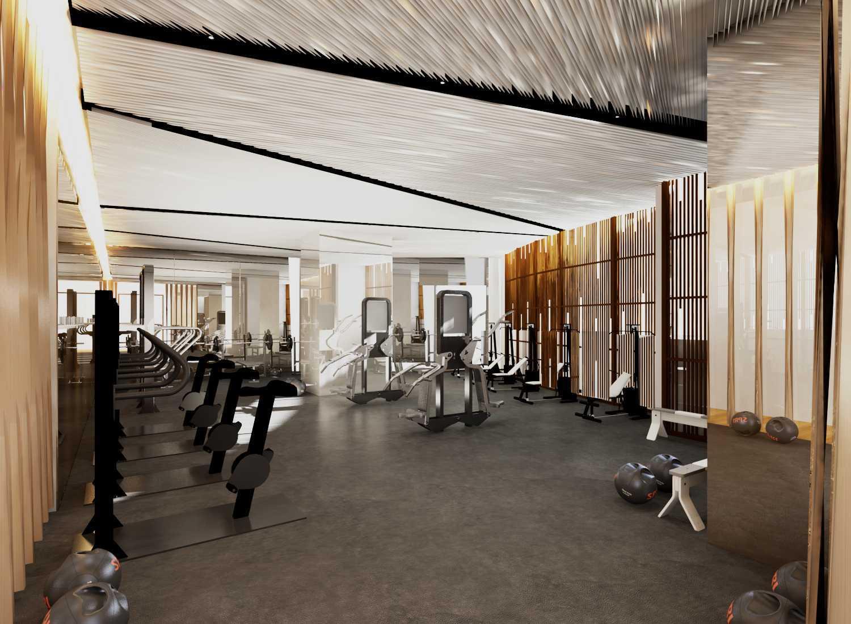 Foto inspirasi ide desain gym Gym area oleh Rinto Katili di Arsitag