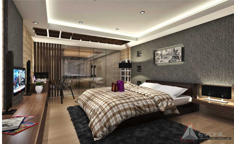 Foto inspirasi ide desain kamar tidur asian Bedroom-2nd-floor-industri oleh Evonil Architecture di Arsitag