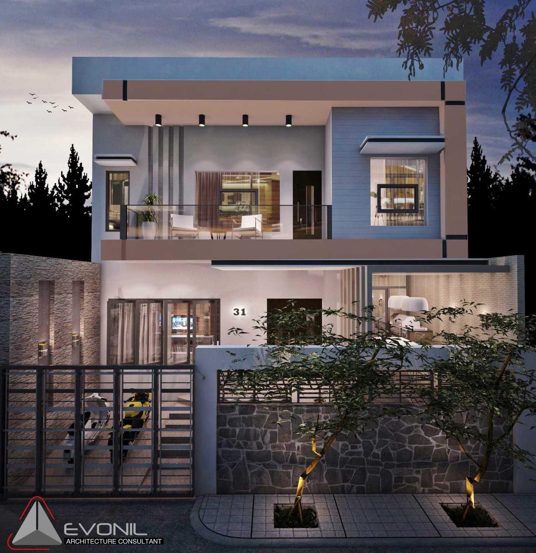 Foto inspirasi ide desain rumah asian Rumah-jalan-industri-alt oleh Evonil Architecture di Arsitag