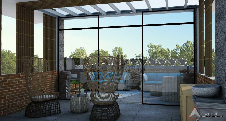 Foto inspirasi ide desain atap tradisional Rooftop-view1-rev oleh Evonil Architecture di Arsitag