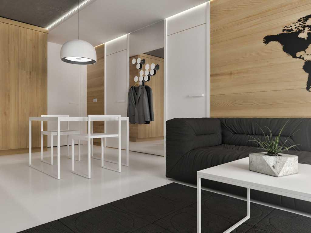 Foto inspirasi ide desain ruang keluarga minimalis Studio apartment - living room oleh JR Design di Arsitag