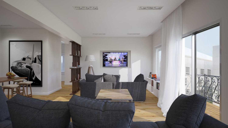 Foto inspirasi ide desain ruang keluarga minimalis Img0566 oleh JR Design di Arsitag