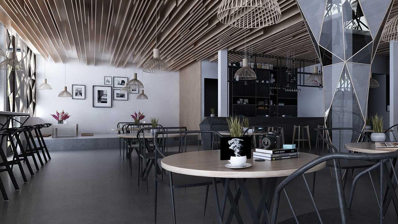 Foto inspirasi ide desain restoran industrial Img0527-2 oleh JR Design di Arsitag