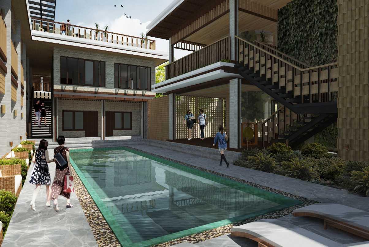 Foto inspirasi ide desain kolam tradisional Swimming pool area oleh Alima Studio di Arsitag