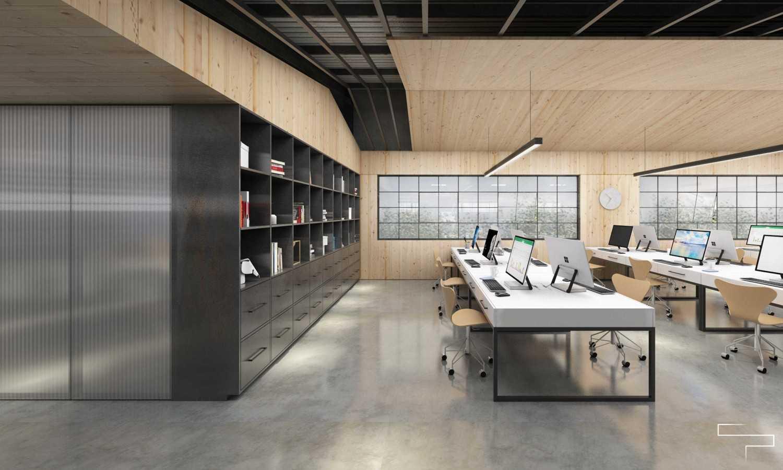 Foto inspirasi ide desain ruang kerja kontemporer Working area oleh Sontani Partners di Arsitag