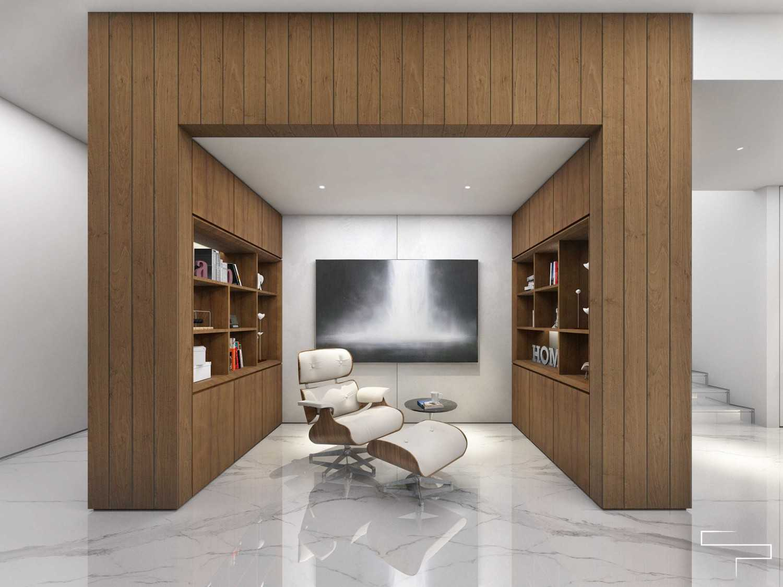 Foto inspirasi ide desain ruang belajar Study room oleh Sontani Partners di Arsitag