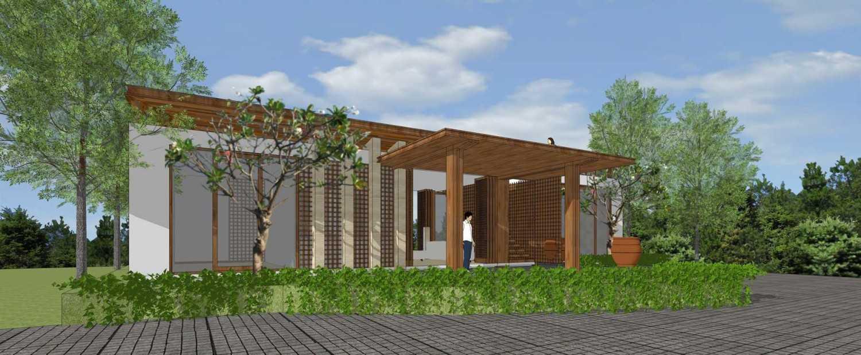 Foto inspirasi ide desain rumah asian Side view oleh Indra Gunadi di Arsitag