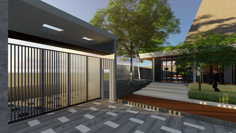 Foto inspirasi ide desain entrance tropis Entrance oleh Samitrayasa Design di Arsitag